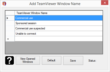 Add TeamViewer Window Name To Block