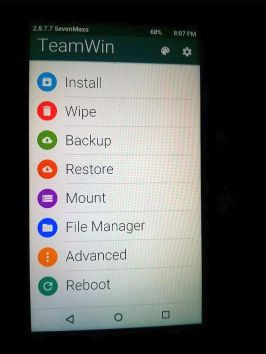 twrp-home-screen