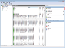 Windows Firewall with Advanced Security New Rule